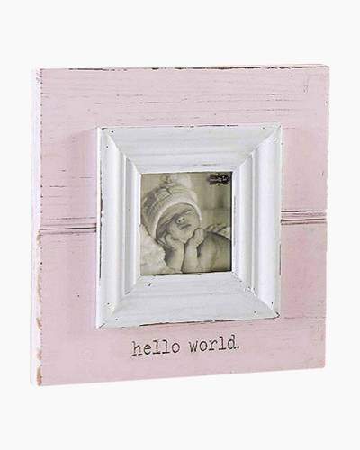 Hello World Pink Baby Frame