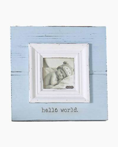 Hello World Blue Baby Frame