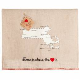 Mud Pie Massachusetts Pin Your Heart Towel