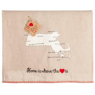 Massachusetts Pin Your Heart Towel