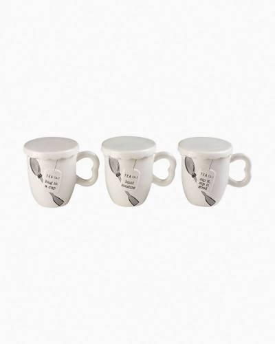 Covered Tea Mug Set (Assorted)