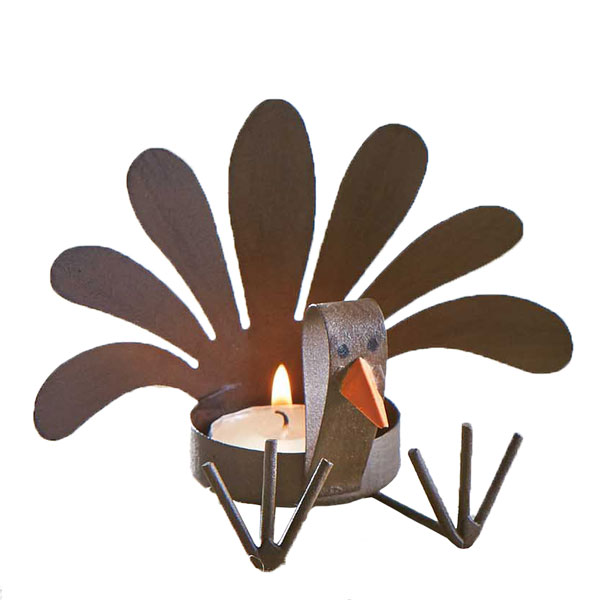 Mud Pie Turkey Sitting Tealight Candle Holder
