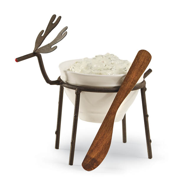 Mud Pie Reindeer Dip Bowl and Spreader
