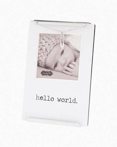 Hello World Glass Clip Frame