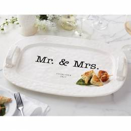 Mud Pie Mr. and Mrs. Established 2017 Hostess Platter