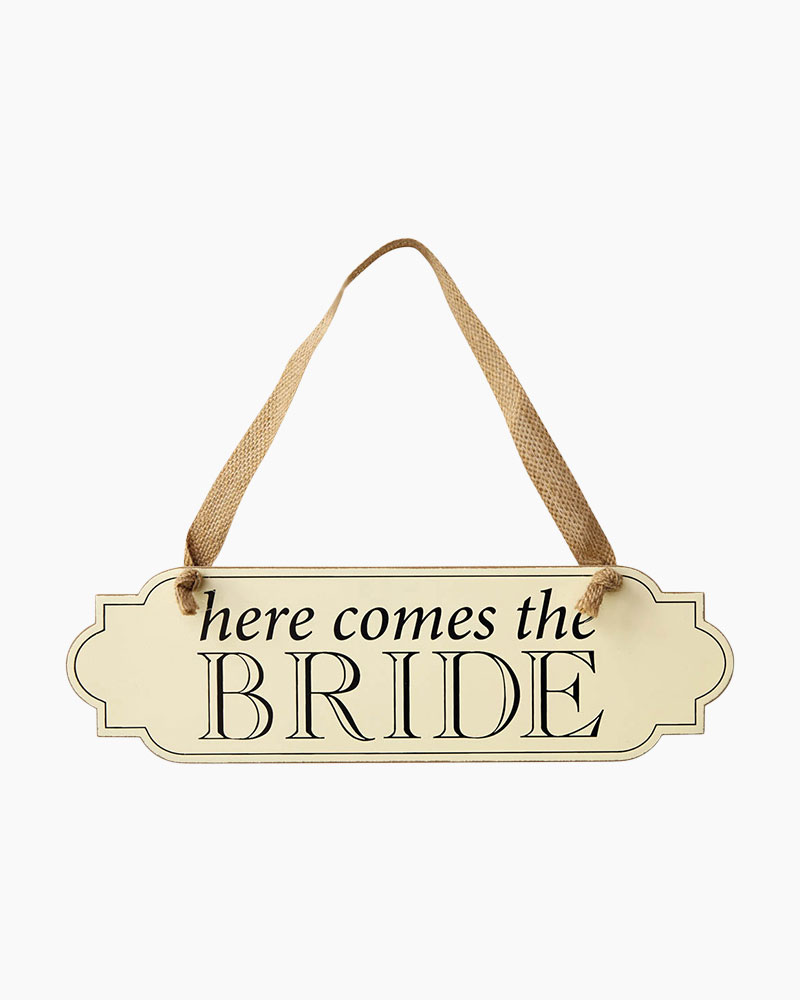 Mud Pie Here Comes the Bride Hanging Sign