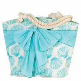 Mud Pie Fanshell Tote with Sarong