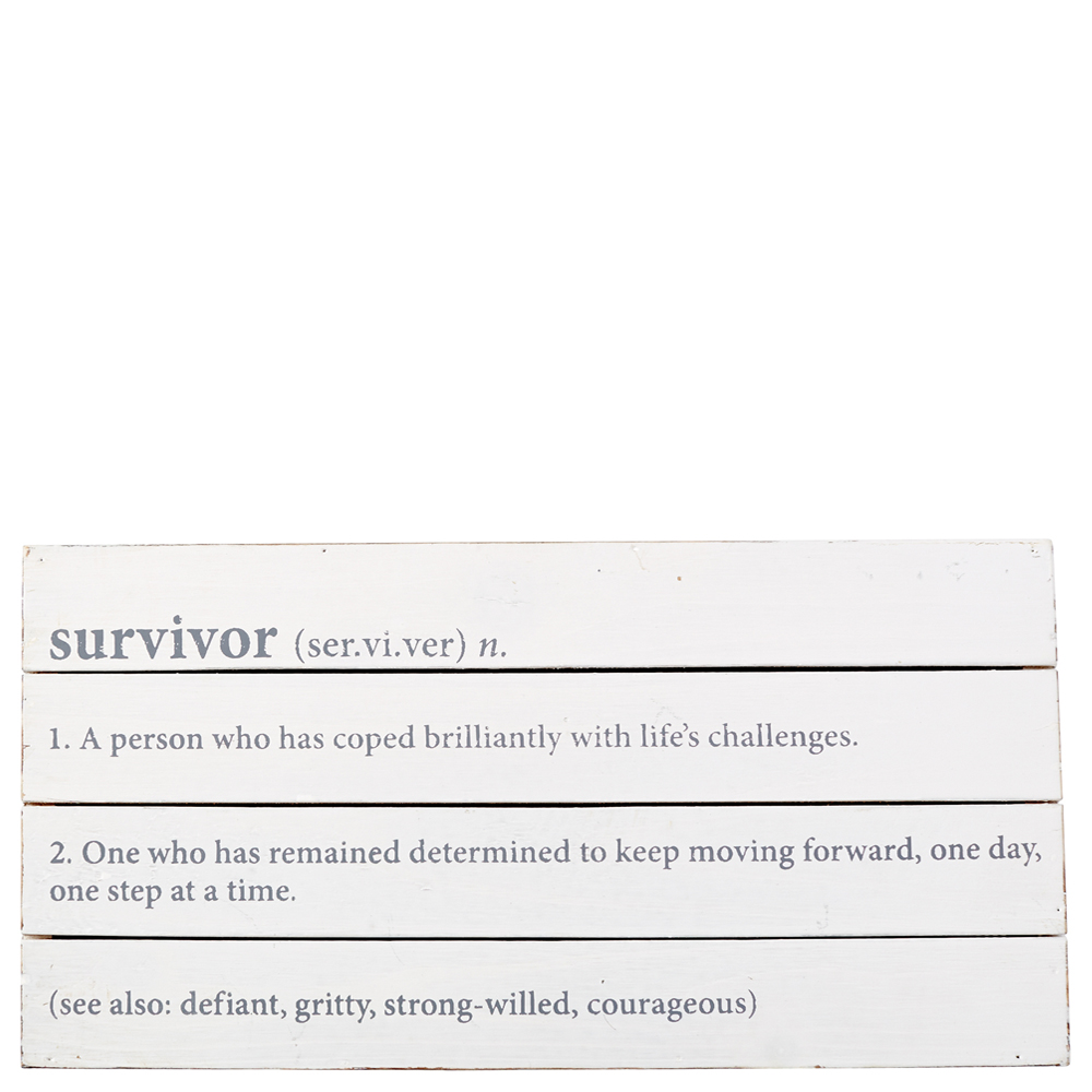 Mud Pie Survivor Plaque