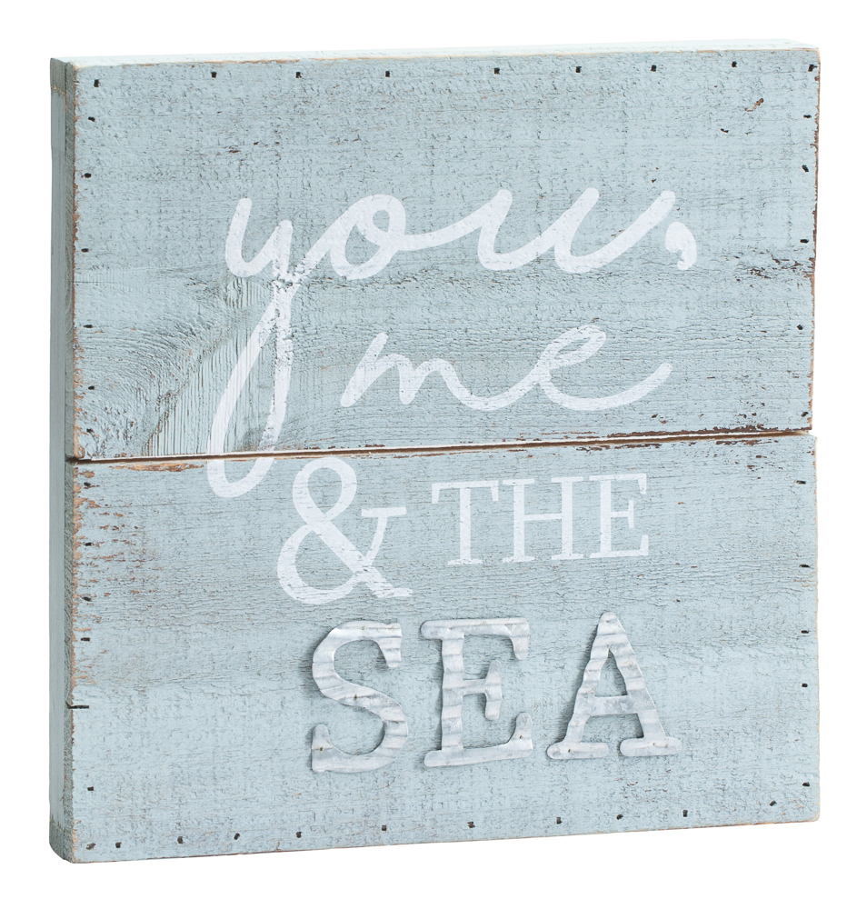 Mud Pie You Me and the Sea Wooden Plaque