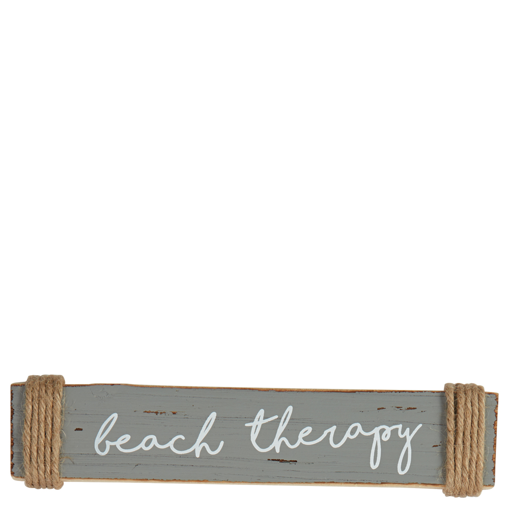 Mud Pie Beach Therapy Small Sentiment Sign