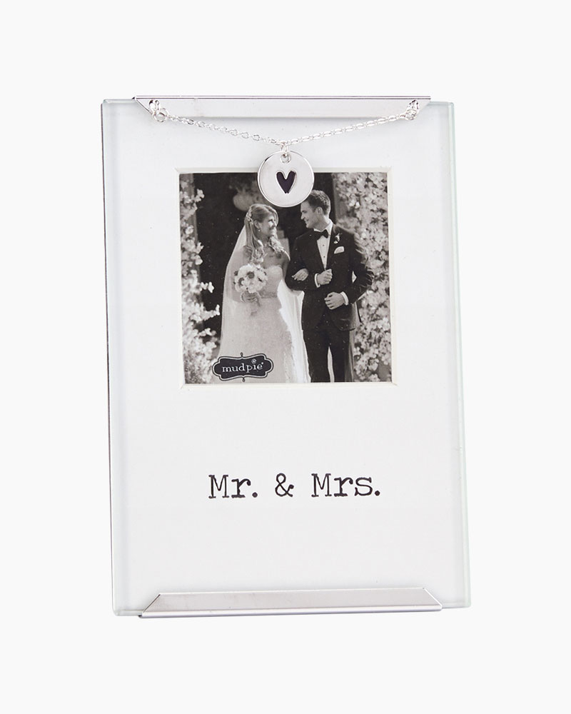 Mud Pie Mr. and Mrs. Glass Clip Frame