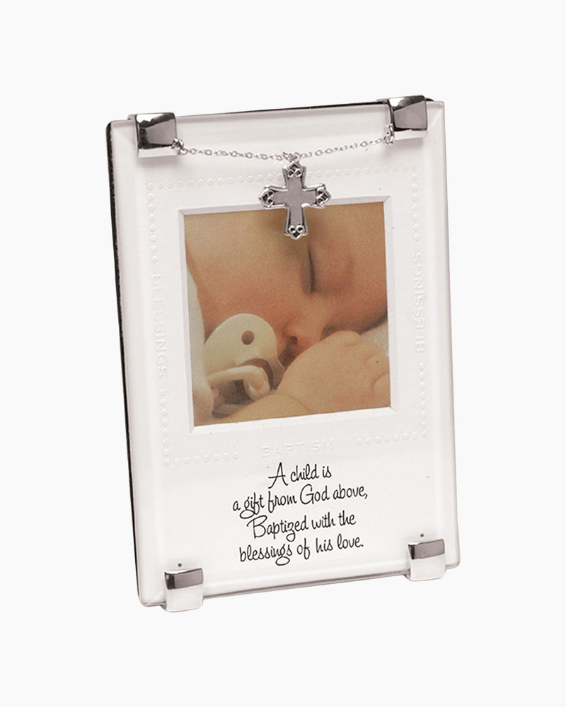 Mud Pie Gift from Above Baptism Glass Clip Frame