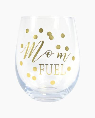 Mom Fuel Stemless Wine Glass
