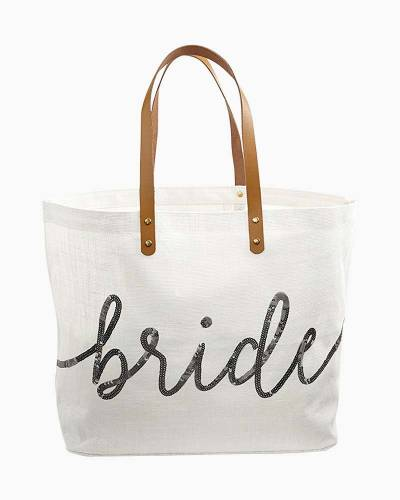 Bride Sequin Tote Bag