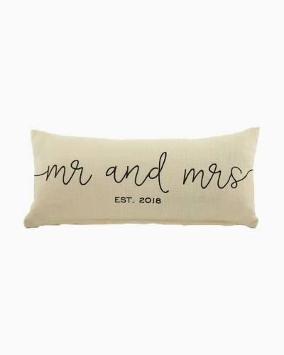 Mr. and Mrs. 2018 Accent Pillow
