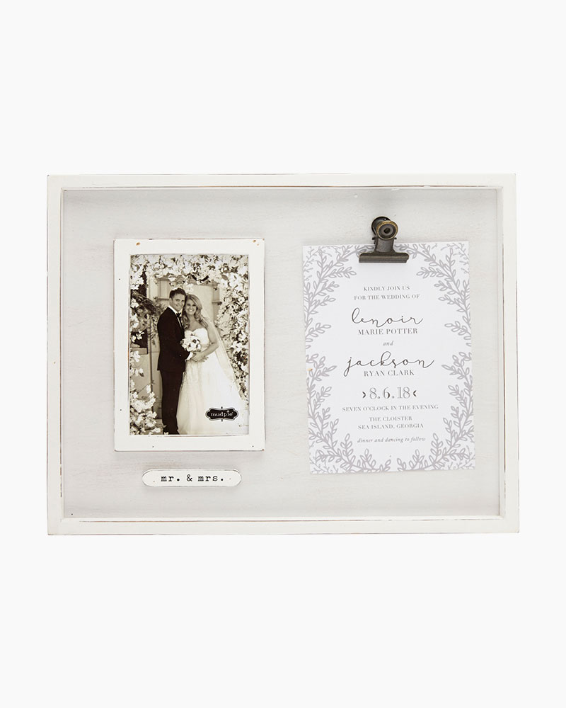 Mud Pie Mr. and Mrs. Wedding Photo and Invitation Frame | The Paper ...
