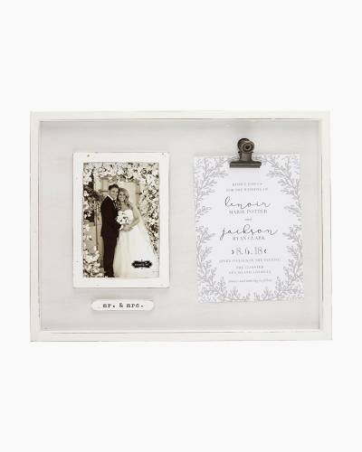 Mr. and Mrs. Wedding Photo and Invitation Frame