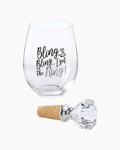 Got the Ring Stemless Wine Glass