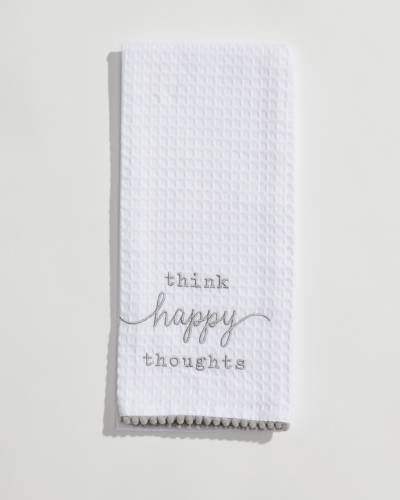Happy Everything Waffle Weave Towel (Assorted)