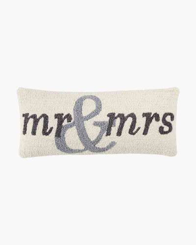 Mr. and Mrs. Woven Hooked Pillow