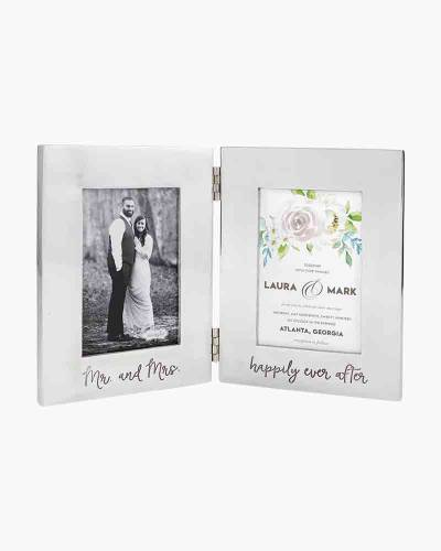 Mr. and Mrs. Engraved Folding Picture Frame (4x6)