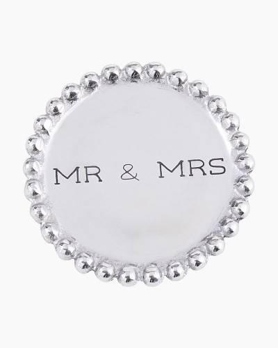 Mr. and Mrs. Beaded Coaster Set