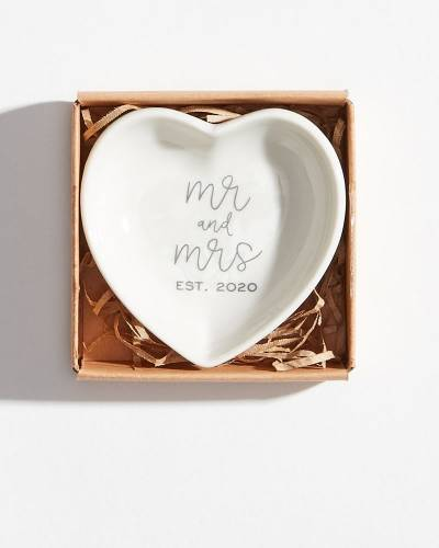 Exclusive Mr. and Mrs. Est. 2020 Ring Dish