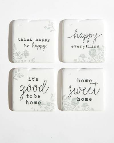 Happy Everything Coasters (Set of 4)