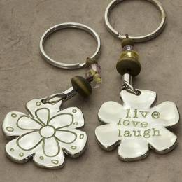 Natural Life Live Love Laugh Token Keychain