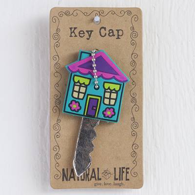 Purple House Key Cap