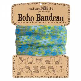 Natural Life Blue and Lime Boho Bandeau