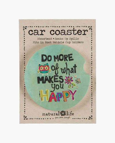 Do What Makes You Happy Car Coaster