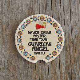 Natural Life Guardian Angel Car Coaster