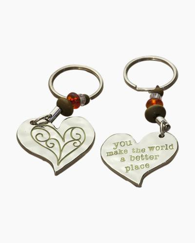 You Make The World Better Token Keychain