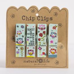 Natural Life 4-Pc. Family Crazy Love Chip Clip Set