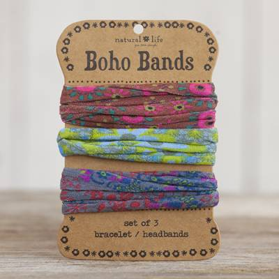 Brown, Green and Grey Boho Bands