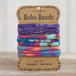 Natural Life Purple, Aqua and Multicolor Boho Bands