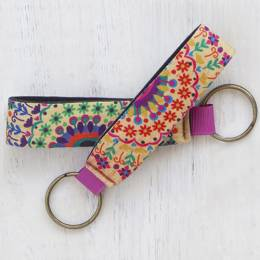 Natural Life Floral Design Neoprene Key Fob