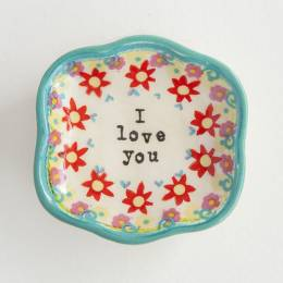 Natural Life I Love You Mini Artisan Trinket Dish