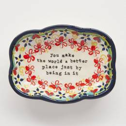 Natural Life You Make The World Better Medium Artisan Trinket Dish