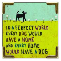 Natural Life Dog Corner Magnet