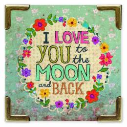 Natural Life Love You To The Moon Corner Magnet