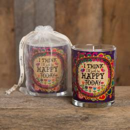 Natural Life Be Happy Today Soy Wax Candle