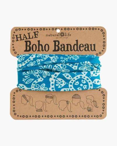 Turquoise and Cream Mandala Half Boho Bandeau