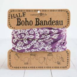 Natural Life Purple and Cream Mandala Half Boho Bandeau