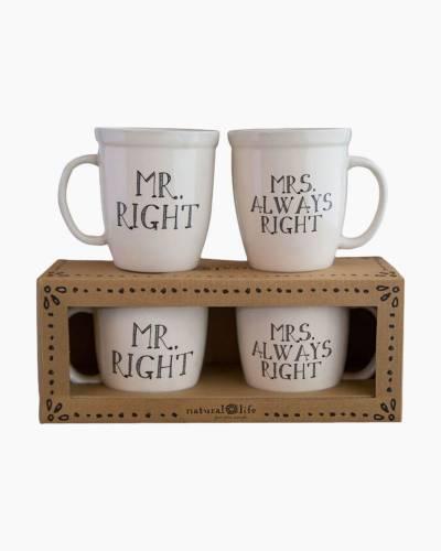 Mr. and Mrs. Ceramic Mug Set