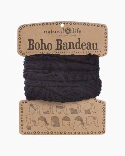 Black Crochet Boho Bandeau