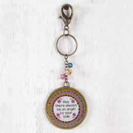 Natural Life Angel By Your Side Glitter Keychain