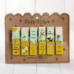 Natural Life Dog Blessings Chip Clip Set of 6