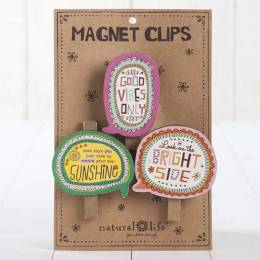 Natural Life Bright Side Sunshine Magnet Clip Set of 3